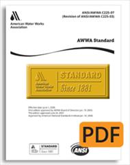 C708-96: AWWA Standard for Cold-Water Meters - Multijet Type