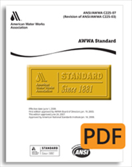 AWWA F101-13 Contact-Molded, Fiberglass-Reinforced Plastic Wash-Water Troughs and Launders