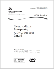 AWWA B504-18 Monosodium Phosphate, Anhydrous and Liquid