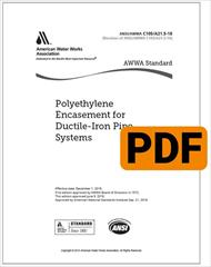 AWWA C105/A21.5-18 Polyethylene Encasement for Ductile-Iron Pipe Systems (PDF)