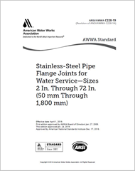 AWWA C228-19 Stainless-Steel Pipe Flange Joints for Water Service—Sizes 2 In. Through 72 In. (50 mm Through 1,800 mm)