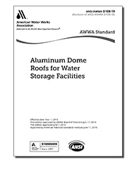 AWWA D108-19 Aluminum Dome Roofs for Water Storage Facilities