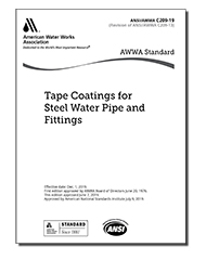 AWWA C209-19 Tape Coatings for Steel Water Pipe and Fittings