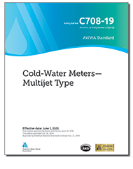 AWWA C708-19 Cold-Water Meters—Multijet Type