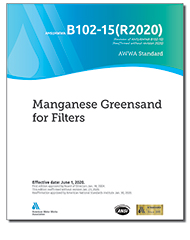 AWWA B102-15(R20) Manganese Greensand for Filters