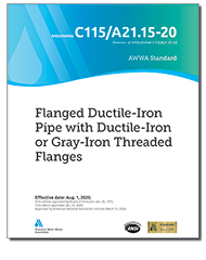 AWWA C115-20 Flanged Ductile-Iron Pipe With Ductile-Iron or Gray-Iron Threaded Flanges