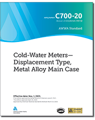 AWWA C700-20 Cold-Water Meters—Displacement Type, Metal Alloy Main Case