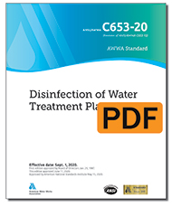 AWWA C653-20 Disinfection of Water Treatment Plants (PDF)